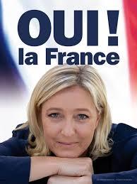 Marine Le Penová: Chceme zastupovat všechny Francouze s ideami, které nejsou ani nalevo, ani napravo: vlastenectví, obrana identity a suverenity národa.