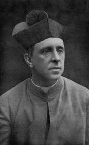 Monsignor R. H. Benson v říjnu 1912