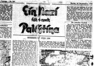 Nacionální socialista na cestě do Palestiny