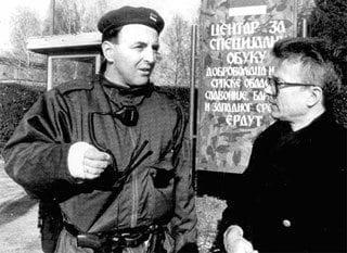 "Željko ""Arkan"" Ražnatović a Eduard Limonov"