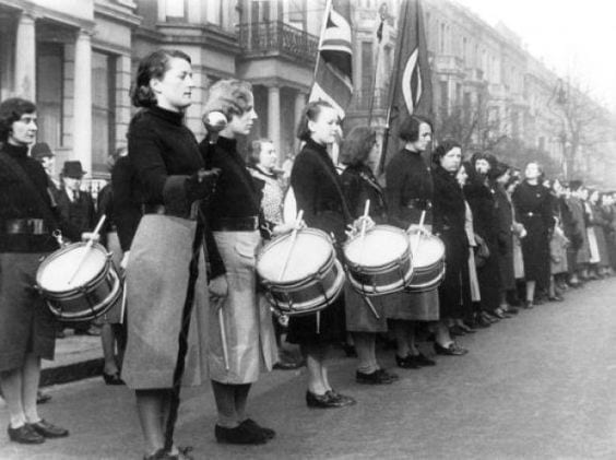 British Union of Fascists Women's Drum Corp