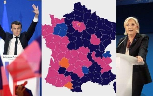 Marine Le Pen Emmanuel Macron